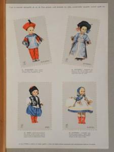 """Foto 3 – Pagina del Catalogo Furga del 1953 con le altre bambole """"razziali""""  (Archivio del Museo Civico di Canneto sull'Oglio)"""