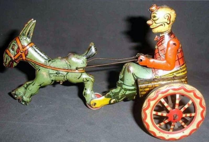 Fortunello guida il carretto ytirato dalla mula Checca, I.N.G.A.P. (Padova), anni '20 del XX secolo